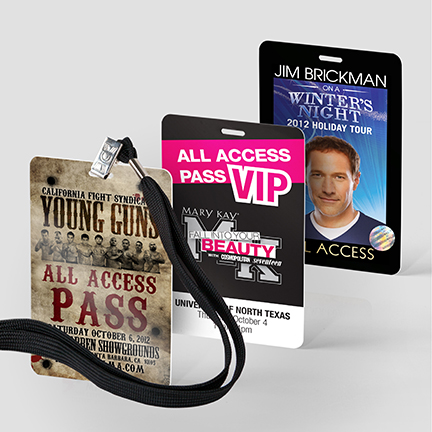 Event and Backstage Passes